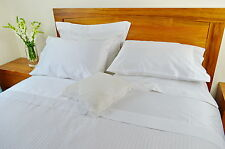 King Bed Fitted Sheet+Quilt Cover Set 1000TC Pure Cotton White (Plain & Stripe)
