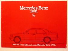 Prospekt Mercedes 190 D  Die neue Diesel Dimension, 8.1983, 24 Seiten