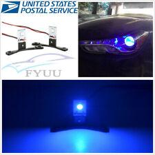 Pair Chips Blue 360°LED Devil Demon Blue Eye Car SUV Headlight Retrofit Kit
