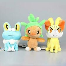 3 Styles XY Series Chespin Fennekin Froakie Soft Plush Toy Dolls Stuffed Animals