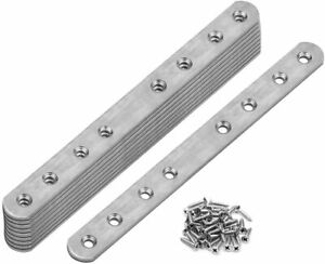 10 Packs Flat Mending Plate Stainless Steel Straight Repair Plates Brace
