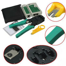 RJ45 RJ11 Cat5 Crimper Lan Network/Internet Cabling Hand Tools KITS Cable Tester