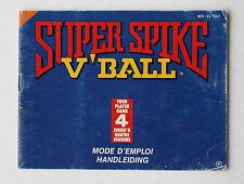 Super Spike V'Ball -- Nintendo NES -- Manual (NES-VJ-FAH)