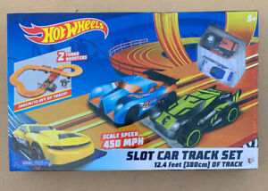 Hot Wheels 2 Turbo Booster- Battery Operated 12.4 ft. Slot Track -Brand New-