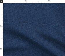 Dark Jeans Denim Fabric Printed by Spoonflower BTY