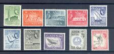 ADEN SG 77-86 1964 WATERMARK CHANGE SET MNH
