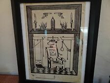 "Andy Warhol woodblock print rare Electric Chair 19""x13.75"" pencil signed"