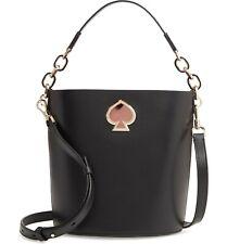 🌸 NWT Kate Spade Suzy Small Bucket Bag Italian Leather Black NEW $298