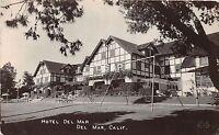 A71/ Del Mar California Ca Postcard Real Photo RPPC 1942 Hotel Del Mar