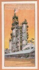 Petroleum Oil  Hydrocarbon Cracking Plant Vintage Trade Ad Card