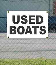 2x3 USED BOATS Black & White Banner Sign NEW Discount Size & Price FREE SHIP