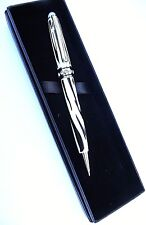 "Ladies Pen - ""ZEBRA STYLE WITH CRYSTALS"" Metal Refillable Pen in a GIFT BOX-NEW"