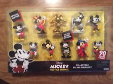 Disney Mickey Deluxe Figure Set 90Th Birthday Anniversary Special Edition 10Pc