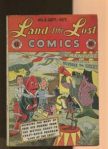 Land of the Lost Comics Comics 2 VG+ 4.5 * 1 Book * Golden Age EC Comics 1946!