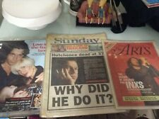 INXS Michael Hutchence magazine articles newspapers full issues vintage collect
