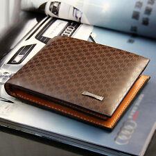 Mens Fashion Business Leather Wallet Pocket Card Holder Clutch Bifold Slim Purse