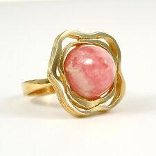 Blumiger Rhodochrosit-Ring in 585 Gold