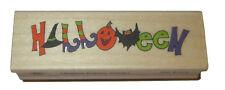 """Halloween Rubber Stamp Witch Hat Boots Pumpkin Bat New 3"""" Long USA Made"""