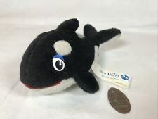 More details for vintage orca killer whale soft toy plush shamu sea world squashed coin
