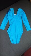 M&S L/Sleeved Gymnastics Dance Gym Stretch Leotard 6-7yrs 122cm Turquoise BNWT