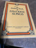 VINTAGE Sheet Music THE GOLDEN BOOK of FAVORITE SONGS - Hall & McCreary