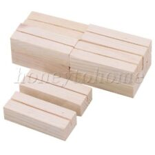 10PCS Wooden  No. Stand Place Name Wedding Table Memo Card Photo Postcard Holder