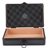 10 Slots Aluminum Cigar Box for Holding Cigars Travel Cigar Case Humidor