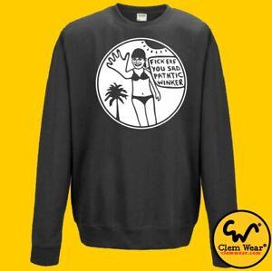 Bottom JUMPER Fick Erf Rik Mayall urf funny sweatshirt silly BNWT Clem Wear