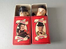 Vintage# 80S Fiammiferini Size Stan Laurel & Holiver Hardy  By Larry Harmon#Nib