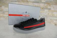 PRADA Gr 45,5  11 Sneakers Schnürschuhe Schuhe 4E3196 schwarz NEU ehem UVP 520 €
