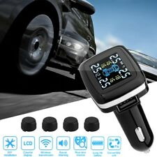 Car Wireless TPMS Tire Tyre Pressure Tem Monitoring System + 4 External  Sensors