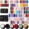 LEMOOC 6/12 Pcs/Lot UV Gel Colors Set UV Gellack Varnish Soak Off Colorful Nails