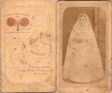 A. Gary, Bordeaux, Jeune communiante Vintage CDV albumen carte de visite  CDV,