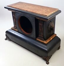 Antique Seth Thomas Adamantine Mantel Shelf Clock Case Parts Repair