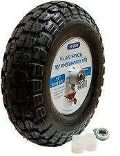 "HI-RUN Wheelbarrow Tire/Wheel Assembly 10"" Flat Free with universal bearing kit"
