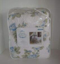 Simply Shabby Chic Floral Twin Quilted Cotton Bedspread NIP Flowers
