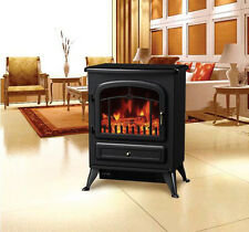 HOMCOM Free Standing Electric Fireplace 1500W Flame Portable Adjustable Heater