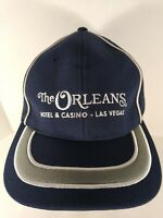 The Orleans Hotel Casino Las Vegas Logo Trucker Style Hat Cap Black w/Black Mesh