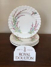 Royal Doulton BELL HEATHER SCALLOPED  Salad Plate~ Set of 6