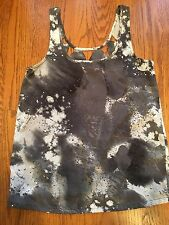 Hurley Junior's Gray and White Dressy Tank Top Size Small