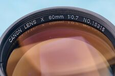 RARE SUPER SPEED CANON LENS X 60MM/F=0.7 MADE IN JAPAN
