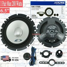 "2x Alpine Sxe-1750S 6.5"" 2-Way Car Audio Component Speakers System - 1 Pair"