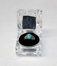 Carolyn Pollack Southwestern Turquoise .925 Sterling Silver Ring Size 6