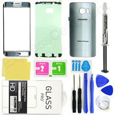 Silver Samsung Galaxy S6 Edge+ G928 Front Screen Lens Back Glass Replacement