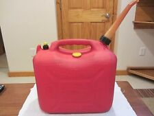 Scepter Jerry Red plastic 5 gallon Gas can w/ Spout and Cap Heavy Duty Pre Ban