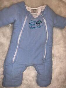 🌟 baby Merlin's Magic  sleepsuit Blue Small 3-6 M