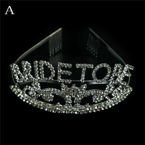 Bachelorette Sparkle tiara Hen Party Crown Bride to Be Bridal Shower Sup In Td