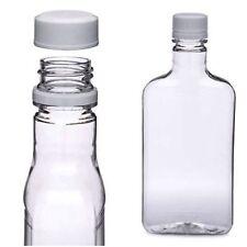6 375ml 12.7 Oz mini empty alcohol liquor bottle shot plastic tamper lid flask