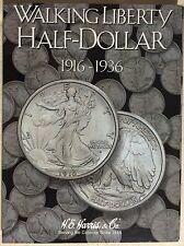 HE Harris Walking Liberty Half Dollar #1 1916-1936 Coin Folder, Album Book#2693