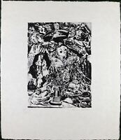 Knox Martin Vintage Etching Serigraph / Silkscreen Limited Edition Number A/P